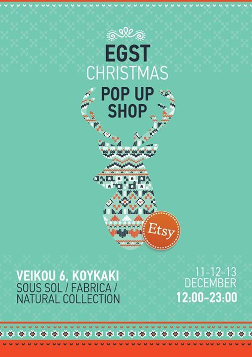 Etsy Greek Street Team Christmas Pop Up Shop 2015! #etsy #etsygreekstreetteam #popupshop #Greece #Christmas2015