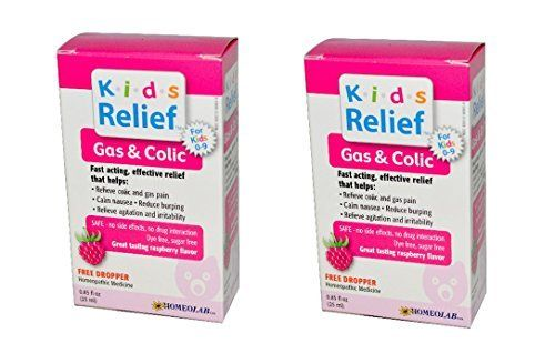 Homeopathic Medicine – Safe – No Side Effects, No Drug Interaction. Helps Relieve Symptoms of Colic, For Intestinal Gas and Abdominal Pain. Dye and Sugar Free – Raspberry Flavor. Recommended for Children Age 0-9