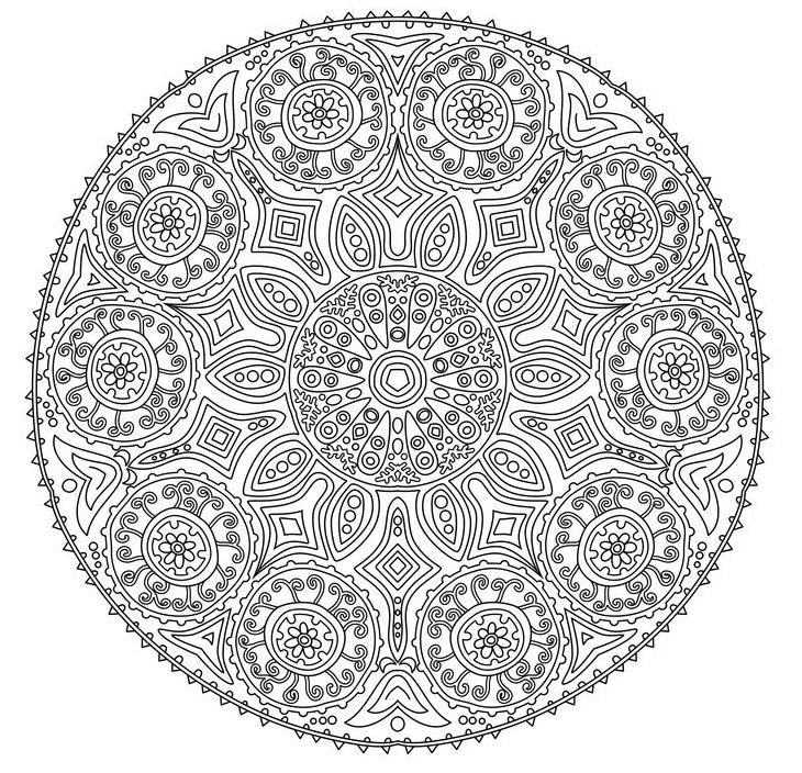 146 best Colouring pages Mandala images on Pinterest Coloring