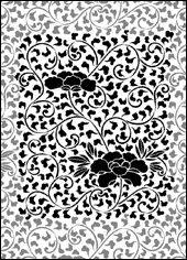 Stencil designs from India, China and Japan
