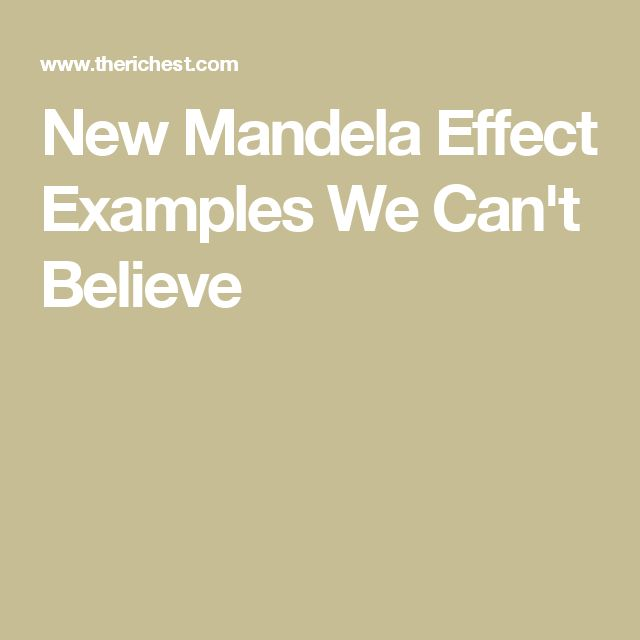 New Mandela Effect Examples We Can't Believe