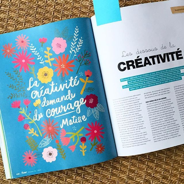 Great to be featured in French Flow Magazine. Thanks @flowmagazine_fr ❤️ #quote #creativity #matisse