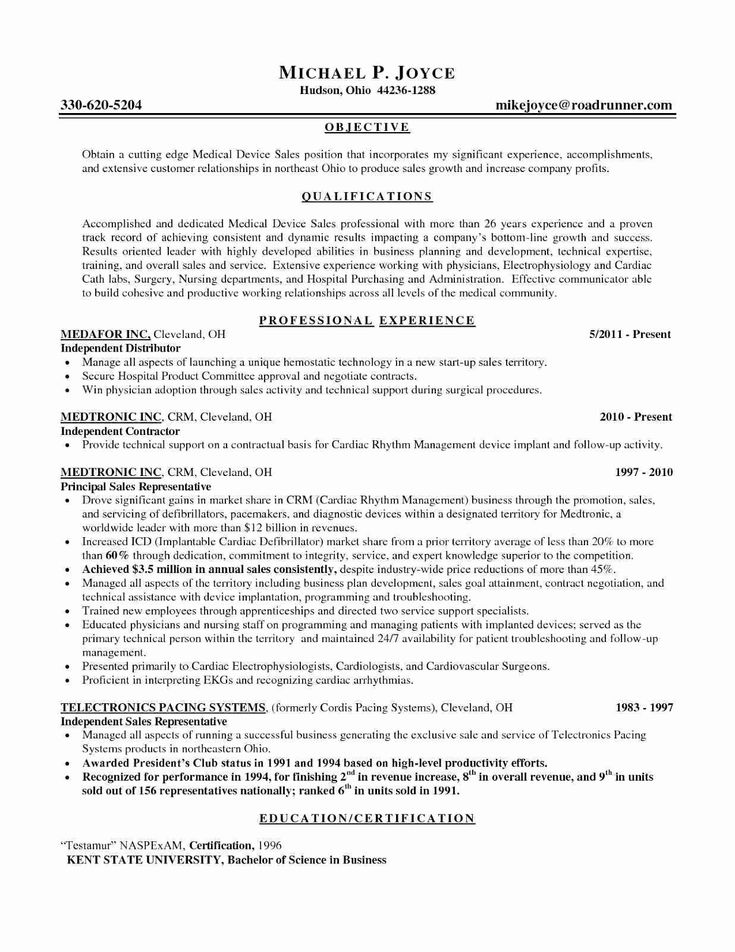 Sales Objective Resume Format