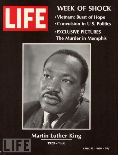 Life, 1968  Martin Luther King, Jr. named Michael King at birth[1] (January 15, 1929 – April 4, 1968) was an American clergyman, activist, and prominent leader in the African-American Civil Rights Movement.