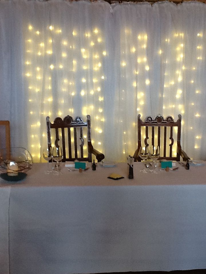 Love this light curtain from Blue Orchid Events behind the top table.