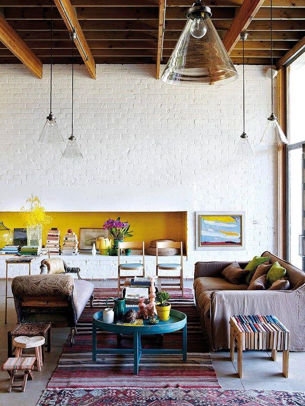 Uma casa moderna com ares de fazenda Interiores Ideias