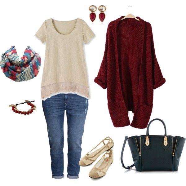 """""""Comfy Fall Sweater- Plus Size Outfit"""""""
