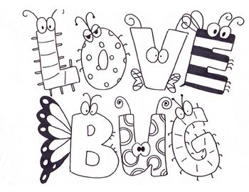 Free! Valentine's Day coloring page | Love Bug