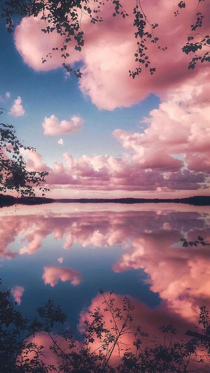 Pink cloudy wallpaper
