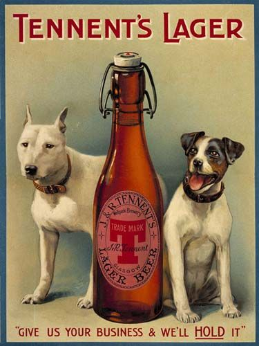 Today, we have a look at one of Tennent's Lager vintage beer signs for our 5th entry in the series.