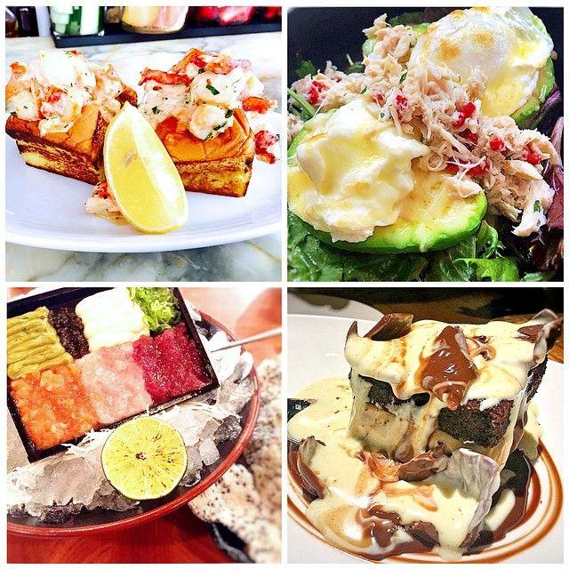 Weekend Recap   #EMMEATS feat #LexingtonBrass' lobster roll and baked egg w blue crab + avocado + tartare trio and hit me chocolate cake @catchrestaurants #catchnyc (cc @courtney_e_holden @ogluttoness @amandatedja @wafa_alqasimi) #lobsterroll #eggs #avocado #tartare #chocolatecake #ogluttoness #nycfood #eatingnyc