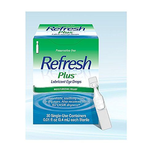 #wow Preservative-free. Moisture drops for dry eyes including Lasik dryness. Sterile single-use containers. The easy answer for dry eye relief. #Refresh #Plus lub...