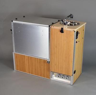 Van Kitchen | Vanlife | Camper stove, Camper kitchen, Locker