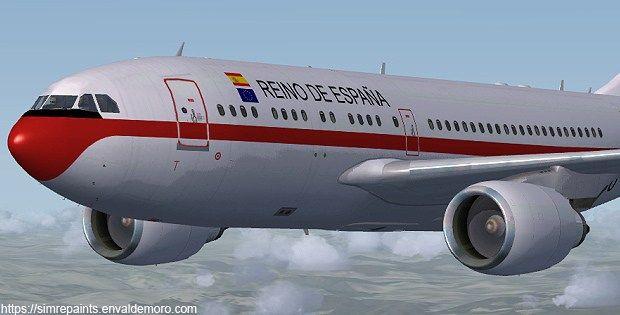 FAE A310-304 REINO DE ESPAÑA  Texturas para FSX (archivos DDS)  Fae A310-304 Reino de España, el Grupo 45 se identifica con su símbolo de la paloma sobre el globo terráqueo ya que aviones del Grupo 45 han dado la vuelta completa al mundo en varias ocasiones y devorado miles de millas realizando misiones de transporte de personal.