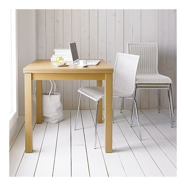 Kitchenette White Stack Chair in Dining Chairs | Crate and Barrel