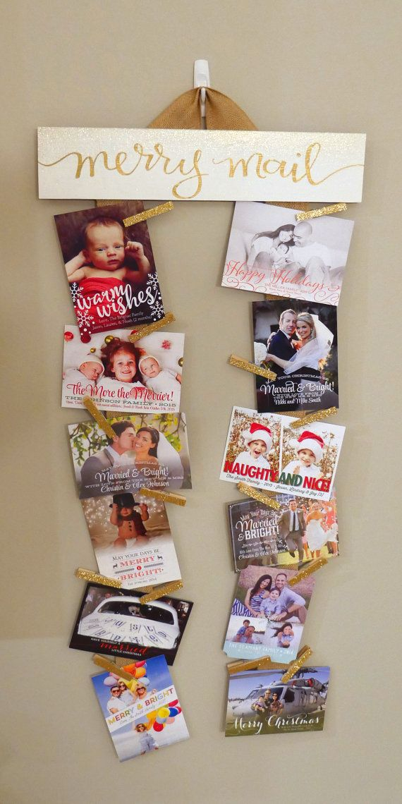 My favorite Merry Mail sign yet! Make you Christmas Card display