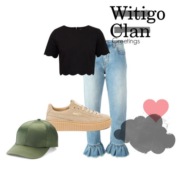 """""""KHY#2"""" by gamz-e ❤ liked on Polyvore featuring MSGM, Ted Baker, Puma, Mudd, outfit, girly, Good, puma and blackandgreen"""