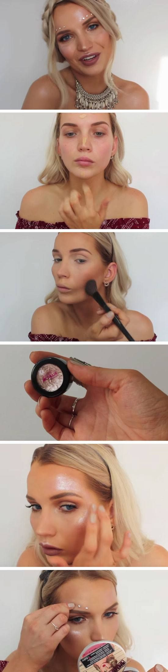 Diamante | 17 Summer Festival Makeup Ideas for Teens and the Coachella bound!