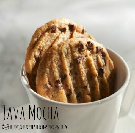 Java Mocha Shortbread, A perfect shortbread with a hint of coffee and a lot of chocolate flavor.