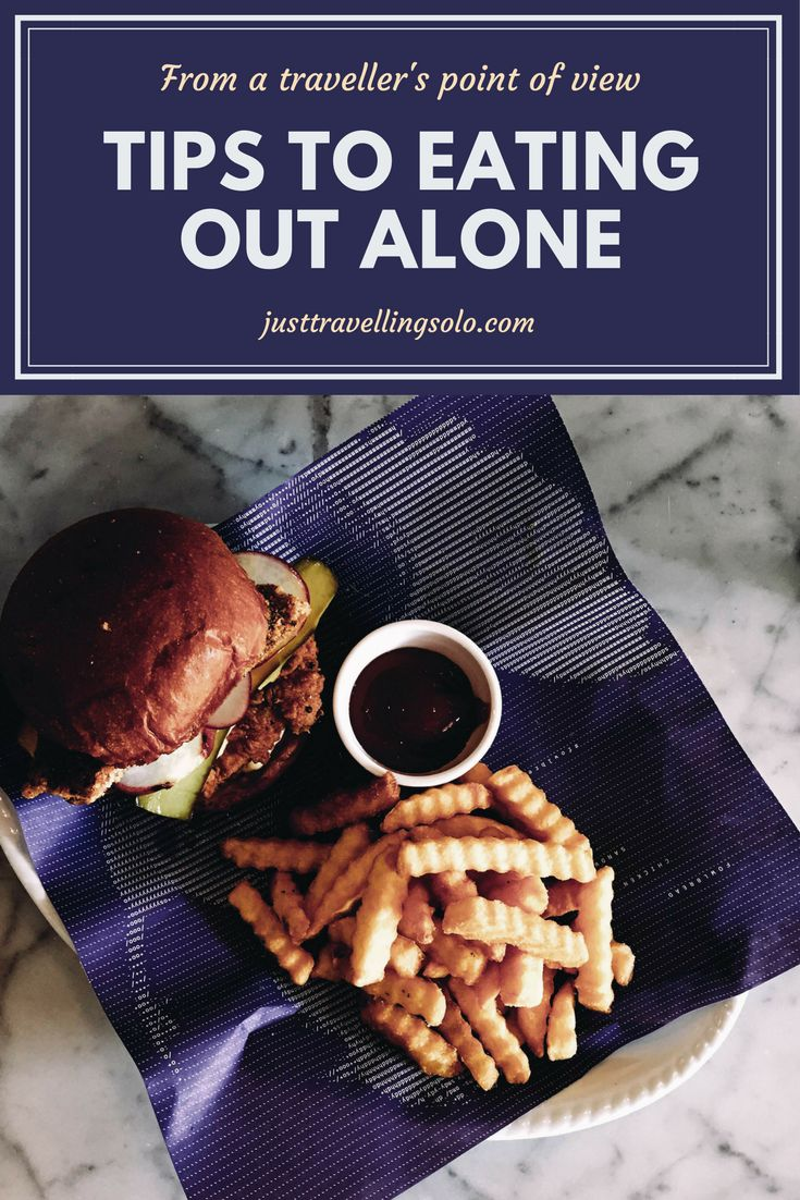 One thing that I always end up thinking about before I leave home is where I'm going to eat, and it's a known fact that if you're traveling by yourself, eating out alone can be depressing. Well, not really. So here are tips on how to enjoy being on a dinner date with your lovely self. https://justtravellingsolo.com/travel-tips-eating-alone/