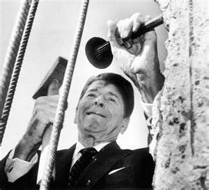 "June 1987- President Reagan's speech regarding Berlin, ""Mr. Gorbachev, tear down this wall."""