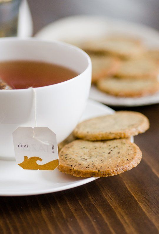 CHAI TEA COOKIES:  This thin, crisp, flaky shortbread flecked with black tea and spices is one of the simplest cookie recipes and it comes together in just a few moments.