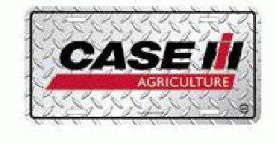 Case IH Agriculture Diamond License Plate