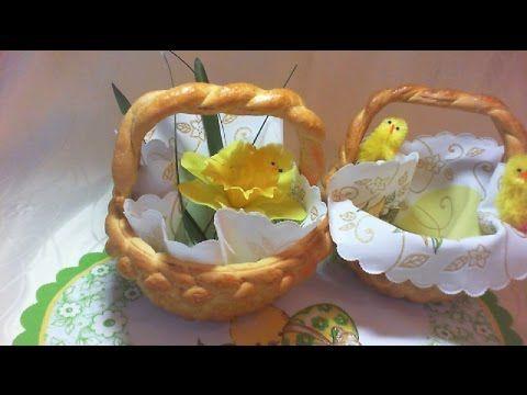 Koszyczek Wielkanocny z Ciasta Drożdżowego