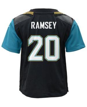 Nike Jalen Ramsey Jacksonville Jaguars Game Jersey, Toddler Boys (2T-4T) - Black/Teal 4T
