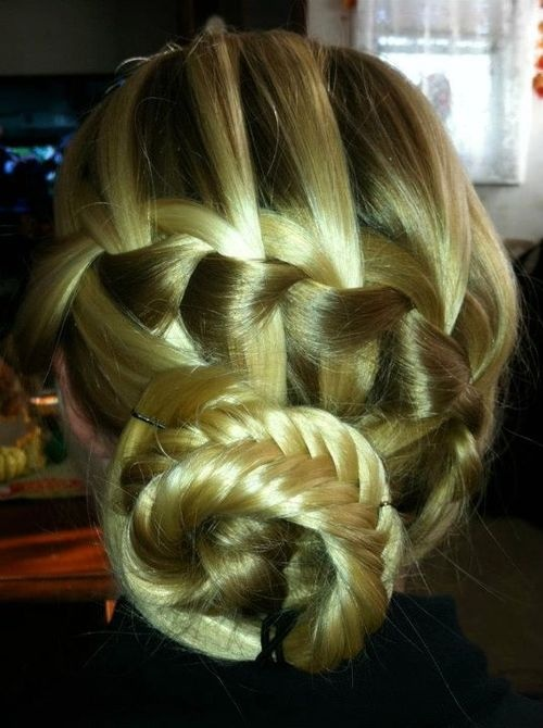 cute: Braids Hairstyles, French Braids, Prom Hairs, Waterf Braids, Hairs Styles, Fishtail Buns, Fishtail Braids, Long Hairs, Braids Buns