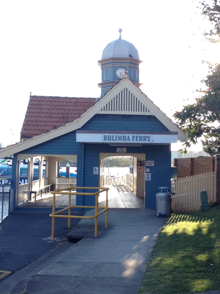 Bulimba ferry stop in Brisbane. Consider it a house with character for commuters.