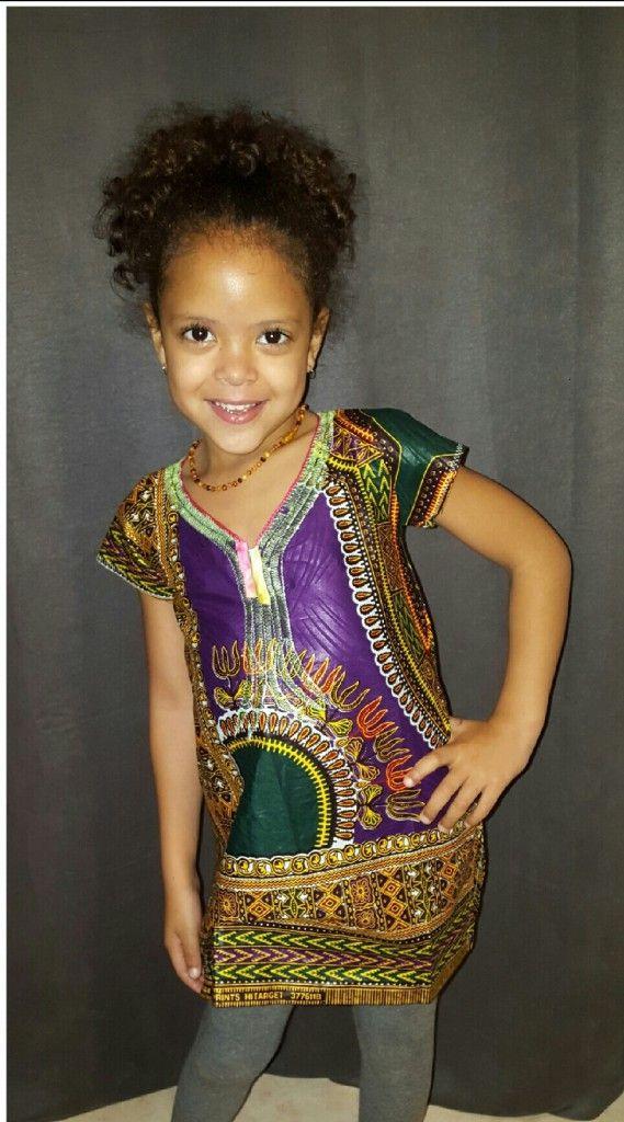 Robe fillette traditionnelle en tissu africain » Angelina…