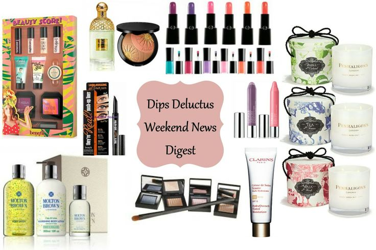 Lots of loveliness in the beauty news this week, Moltin Brown, Guerlain, Georgio Armani, NARS, Clinique and Penhaligon's