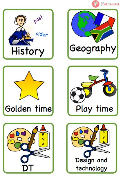 Key Stage One (KS1) Visual Timetable Cards