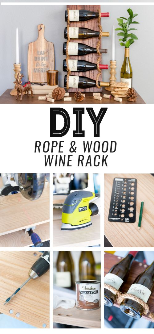 This wine rack truly has a unique design. If you'd like to make a unique wine rack that has a nice design, then check out the tutorial and make one! It is made out of wood and rope.