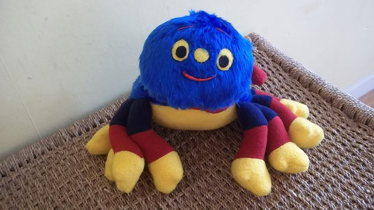Soft toy #1 inspired by Woolly the Spider from Woolly and Tig TV series