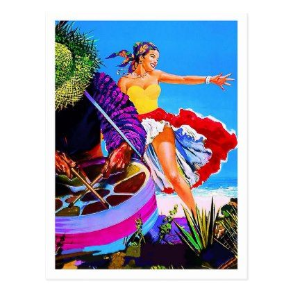 #Dancing girl on a tropic beachtravel postcard - #travel #trip #journey #tour #voyage #vacationtrip #vaction #traveling #travelling #gifts #giftideas #idea