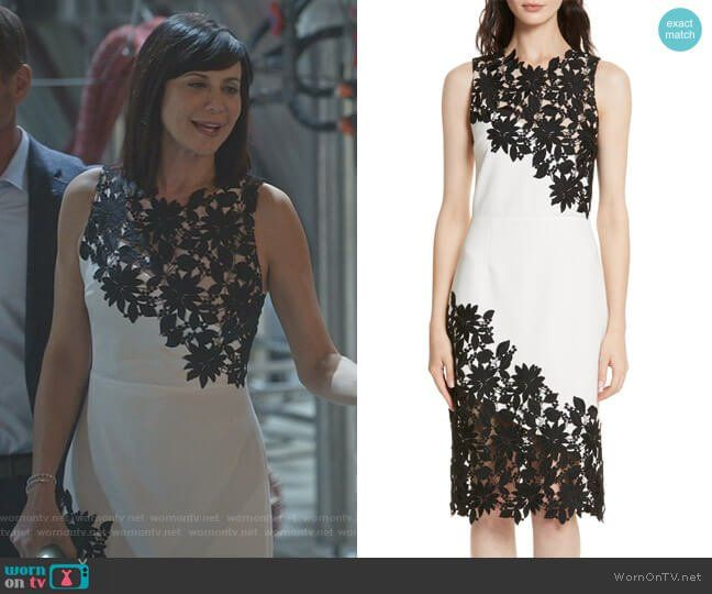 Who Desigbed Catherine Bells Dress On The Good Witch For The Halloween Gala 2020 Cassie's white and black floral lace dress on Good Witch | Lace