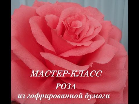 (7) Большая роза из бумаги / Цветок из бумаги / Mary F Diy /  Flower of paper - YouTube