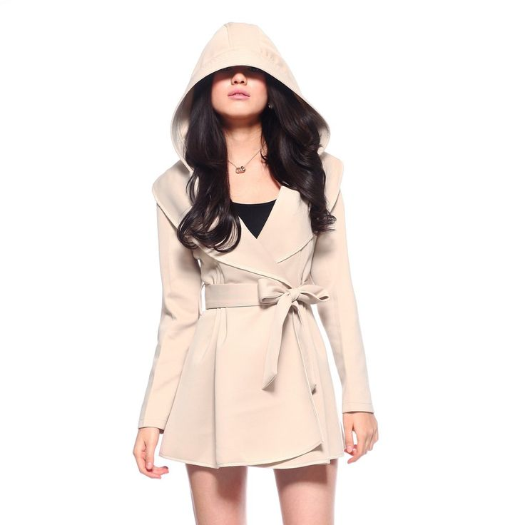 Perfect Womens Trench Coat : Women European Style Fashion Top Quality Knitted Belt Trench