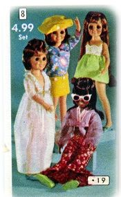 Crissy Doll & Velvet Doll Catalog Fashions 1971 - CLOTHES FOR CRISSY or Kerry or any 18-inch doll. 4 sensational outfits of top quality. Set 4.99 Z