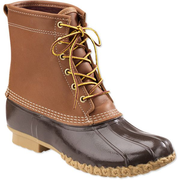 """L.L.Bean Women's Bean Boots By , 8"""" Gore-Tex/Thinsulate ($189) ❤ liked on Polyvore featuring shoes, boots, l.l. bean boots, gore tex boots, breathable boots, gore tex footwear and chain boots"""