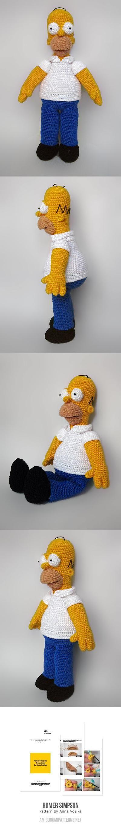 Found at Amigurumipatterns.net - Homer Simpson!