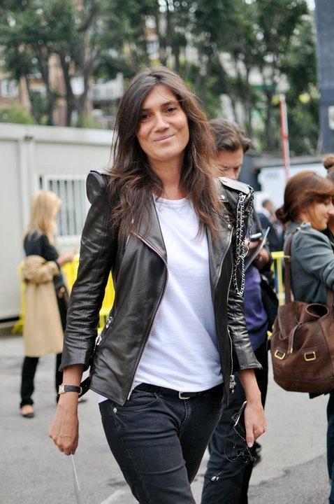 Emmanuelle Alt - gorgeous leather