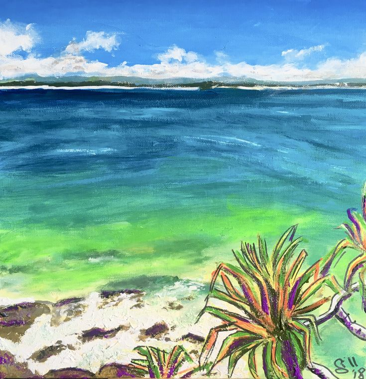 """""""Beautiful Noosa National Park """" by Gillian Fahey. Paintings for Sale. Bluethumb - Online Art Gallery"""