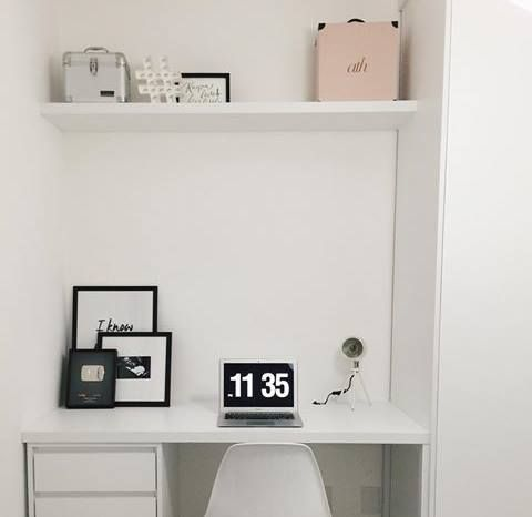 Home office da Rayza Nicacio instagram-rayzanicacio instagram-apartamento84