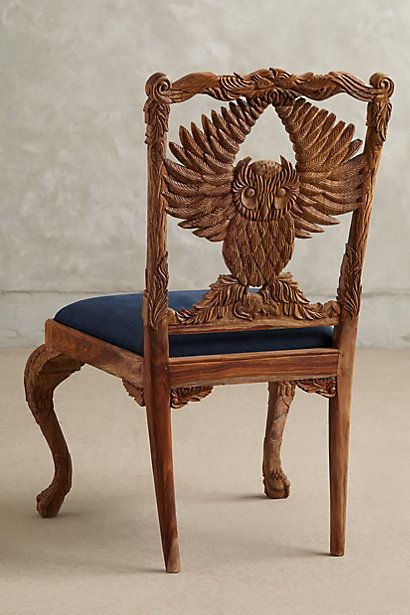 Handcarved Menagerie Owl Dining Chair  Take A Seat