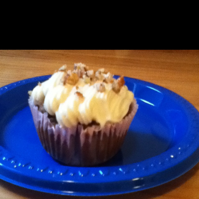 Skinny hummingbird cupcakes -well they were until I added the frosting ...