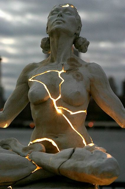 Sculpture from Paige Bradley - Inner Light.  Reminds me of Gods command to let our light shine before men.