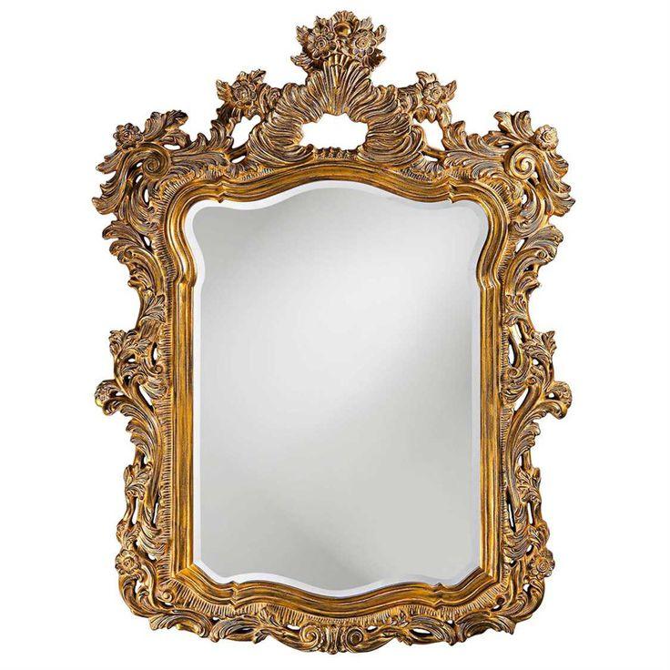 Howard Elliott Turner 42 x 56 Antique Gold Wall Mirror